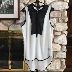 Missimo Tuxedo Style Sheer  Tunic Large